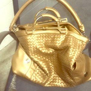 JM Large gold bag